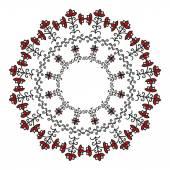 Mezen 円形パターン — ストックベクタ