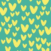 Wzór z serca żółty — Wektor stockowy