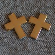 Two golden cross next to each other — Stock Photo #58134991