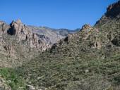 Rocky hills in Sabino Canyon, Tucson, Arizona — Stock Photo