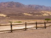 Wooden fence in Death Valley — Stock Photo