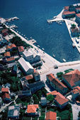 Aerial view at Pucisca at Brac island, Croatia — Stock Photo