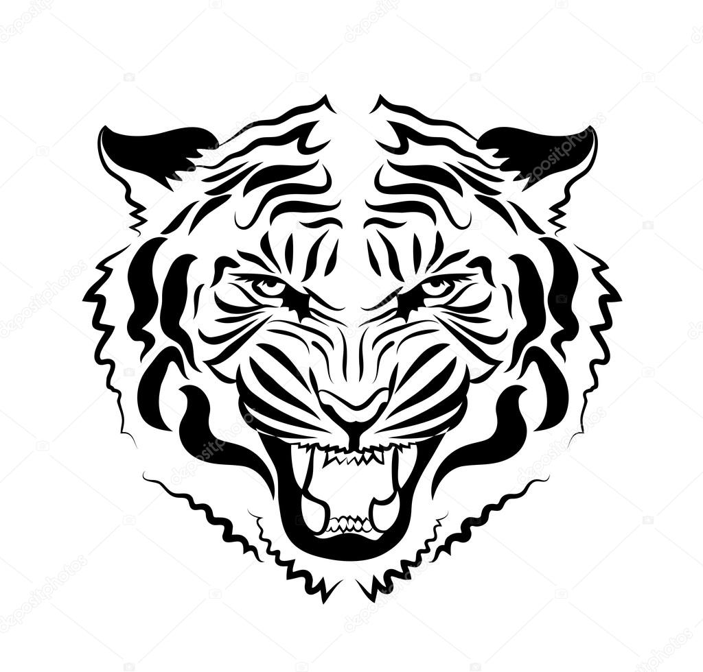 T te de tigre en col re image vectorielle 107246158 - Image tete de tigre ...