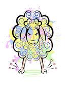 Sheep2 — Vettoriale Stock