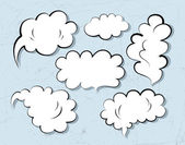 Bosquejo del discurso burbujas — Vector de stock