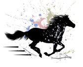 Thoroughbred horse that gallops — Stock Vector