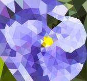 Polygonal background with flower — Stock Vector