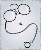 Drawing of Antique eyeglasses — Stock Vector