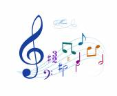 Drawing of  music notes — Stock Vector