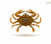 Sea crab on white background — Stock Vector