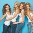 Group of cheerful young ladies — Stock Photo #59975779