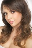 Portrait of the charming brunette lady — Stock Photo