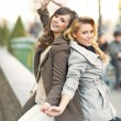 Two best friends in the funny pose — Stock Photo #60100459