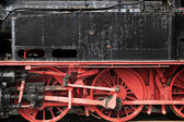 Picture of the black-red locomotive — Stock Photo