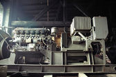 Metal machine in the old factory — Foto Stock