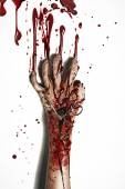 Horror style picture of a bleeding hand — Stock Photo