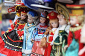 Dolls in folk costumes — Stock Photo