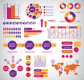 Set of vector infographics — Stock Vector