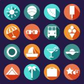 Summer flat icons — Stock Vector