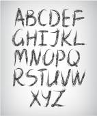 Handwritten grunge pastel font — Stockvektor