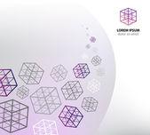 Purple geometric background — Stock Vector