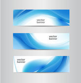 Blue wavy flow banners — Stock Vector