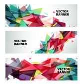 Modern geometric colorful banners — Stock Vector