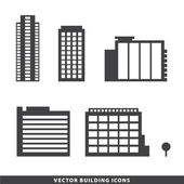 Office buildings silhouettes — Stock Vector