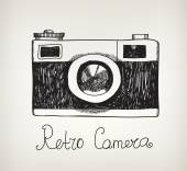 Retro  hipster photo camera — Stock Vector