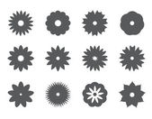 Silhouette flower icons — Stockvektor