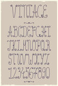 Vintage handwriting font — Stock Vector
