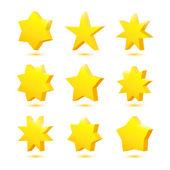 Yellow stars — Stock Vector