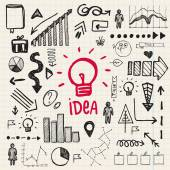 Doodle business idea set — Vecteur
