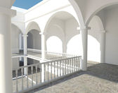 White colonnade — Stock Photo