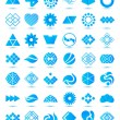 Geometrical abstract icons — Stock Vector #59426623