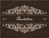 Vintage hand drawn ornated invitation — Stock Vector