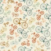 Colorful bicycle hipster background. — Stock Vector