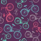 Hand-drawn bicycle background — Stock Vector