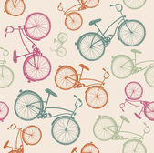 Retro bicycle background — Stock Vector