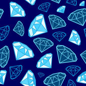 Shiny blue diamond background — Stok Vektör