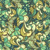 Curly green texture — Cтоковый вектор