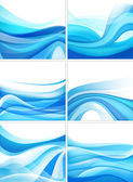 Blue wavy backgrounds — Stock Vector