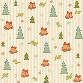 Christmas cute drawn background — Stock Vector