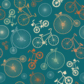Retro bicycle hipster background — Stock Vector
