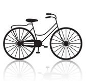 Retro bicycle silhouette — Stockvektor