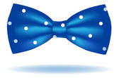 Blue bow tie icon — Stock Vector