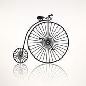 Vintage retro bicycle icon — Stock Vector