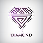 Shiny diamond logo — Stock Vector