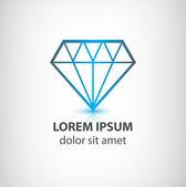 Diamond logo — Stock Vector