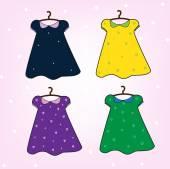 Doll dresses — Stock Vector